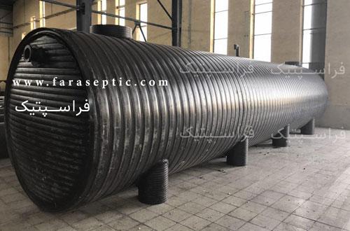 تصویر نمونه سپتیک تانک پلی اتیلن 38 متر مکعب